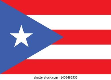 Flag of Puerto Rico vector illustration