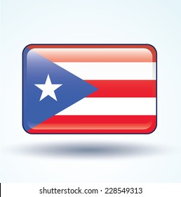 Flag of Puerto rico, vector illustration