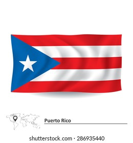 Flag of Puerto Rico - vector illustration