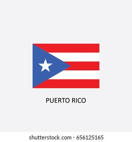 Flag of Puerto Rico Vector Illustration