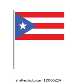 Flag of Puerto Rico.Puerto Rico Icon vector illustration,National flag for country of Puerto Rico isolated, banner vector illustration. Vector illustration eps10.