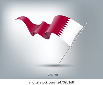 Flag of Qatar, vector illustration
