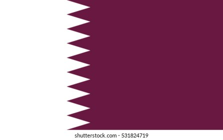 Flag of Qatar vector illustration