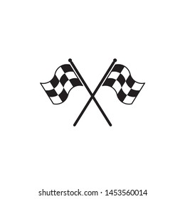 Flag race icon symbol vector on white background. isolated icon