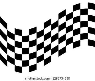 Flag race vector icon