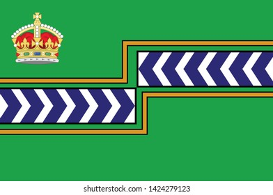Flag of Regional Municipality of Niagara is a regional municipality comprising twelve municipalities of Southern Ontario, Canada. Vector illustration