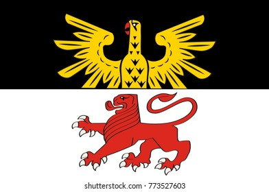 Flag of Reichshof is a North Rhine-Westphalian municipality in the Oberbergischer district in Germany. Vector illustration