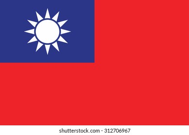 Flag of Republic of China (Taiwan). Vector illustration.