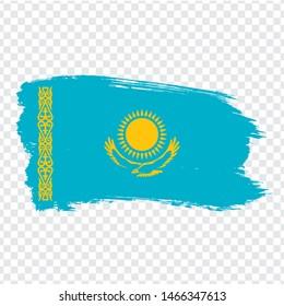Flag Republic of Kazakhstan from brush strokes. Flag Kazakhstan on transparent background for your web site design, logo, app, UI. Stock vector.  EPS10.