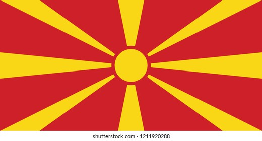 Flag of the Republic of Macedonia Vector
