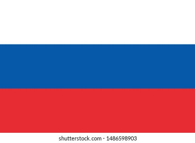 Flag of Russia, Europe as a background.