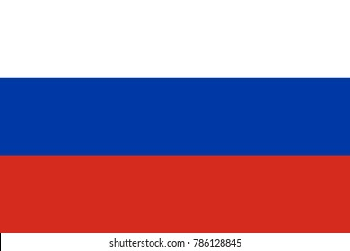 Flag of Russia in national colors, vector