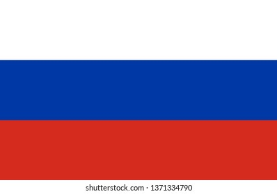 Flag of Russia vector color illustration eps