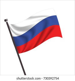 Flag of Russian. Russian Icon vector illustration,National flag for country of Russian isolated, banner vector illustration. Vector illustration eps10.