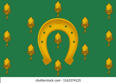 Flag of Rutland is a landlocked county in the East Midlands of England. Vector illustration