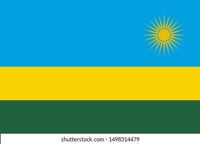 Flag of Rwanda a vector illustration