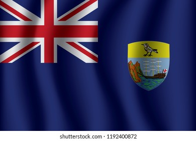 Flag of Saint Helena. Saint Helena Icon vector illustration eps10.
