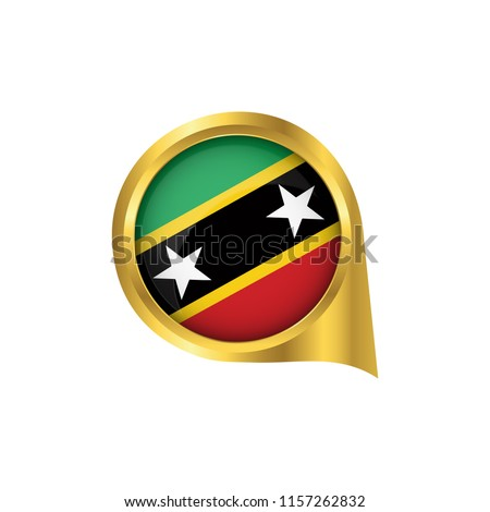 Flag Saint Kitts Nevis Location Map Stock Vector (Royalty Free ...