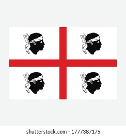 Flag of Sardinia - Italy state vector