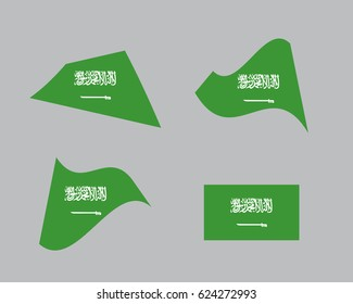 Flag of Saudi Arabia, national country symbol illustration