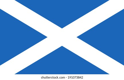 Flag of Scotland. Saint Andrew's Cross. Vector. Accurate dimensions, element proportions and colors.