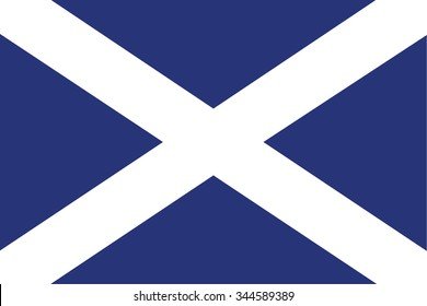 Flag of Scotland. vector illustration