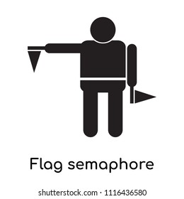 Flag semaphore language icon vector isolated on white background for your web and mobile app design, Flag semaphore language logo concept