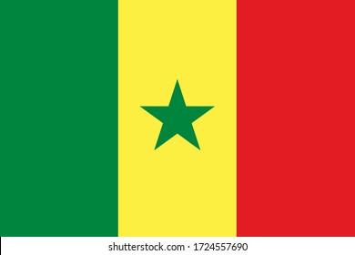 Flag of Senegal in original colors