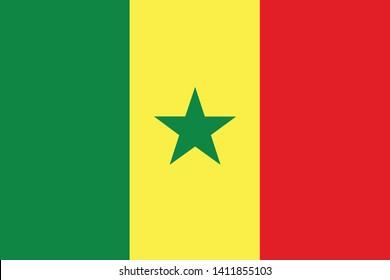 Flag of Senegal vector illustration