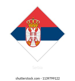 Flag of Serbia participant of the Europe football competition. Vector flag.