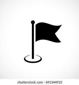 Flag silhouette vector icon on white background
