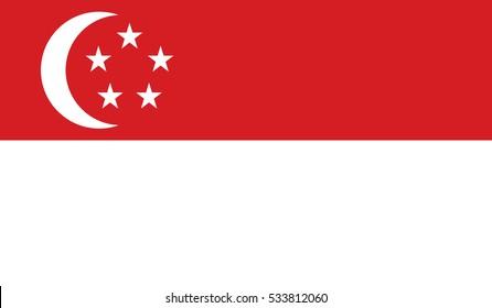 flag of singapore vector icon illustration eps10