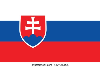 Flag of Slovakia. page symbol for your web site design Slovakia flag logo, app, UI. Slovakia flag  illustration,