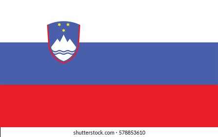 Flag of Slovenia page symbol for your web site design Slovenia flag logo, app, UI. Slovenia flag Vector illustration, EPS10.