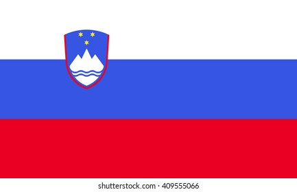 Flag of Slovenia vector graphics