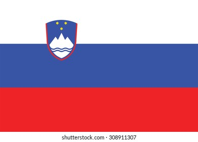 Flag of Slovenia. Vector illustration.