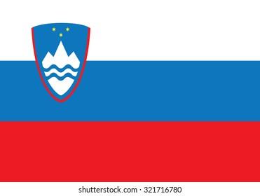 Flag of Slovenia. Slovenia flag vector illustration