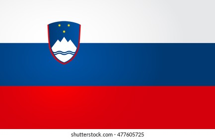 Flag of Slovenia. Vector illustration