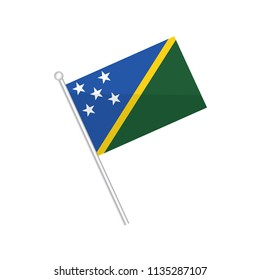 Flag of Solomon Islands. Flag of Oceania. isolated on a white background.