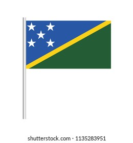 Flag of Solomon Islands.Solomon Islands Icon vector illustration,National flag for country of Solomon Islands isolated, banner vector illustration. Vector illustration eps10.