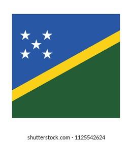 Flag of Solomon Islands,Solomon Islands flag Vector Square Icon - Illustration, Flag of Solomon Islands. Abstract concept, icon, square, button. Raster illustration on white background.