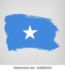 Flag Somalia from brush strokes. Flag Somalia on transparent background for your web site design, logo, app, UI.  Africa. Stock vector.  EPS10.