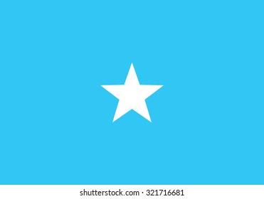 Flag of Somalia, national country symbol illustration