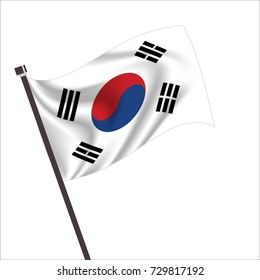 Flag of South Korea. South Korea Icon vector illustration,National flag for country of South Korea isolated, banner vector illustration. Vector illustration eps10.