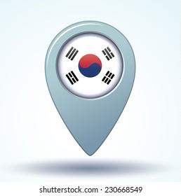 Flag of South korea, vector illustration