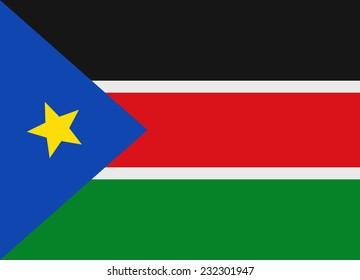 Flag of South Sudan vector illustration