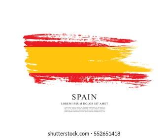 Flag of Spain, brush stroke background