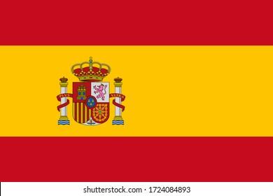 Flag of Spain in original colors
