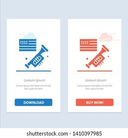 Flag, Speaker, Laud, American  Blue and Red Download and Buy Now web Widget Card Template