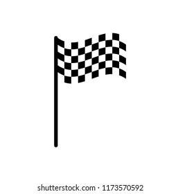 flag - start - finish - goal icon vector